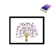 Creative Dead Tree DIY Fingerprint Signature Decorative Painting Annual Meeting Birthday Wedding Canvas Painting 30x40cm