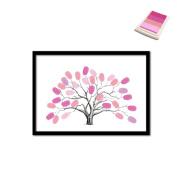 Creative Peach Tree DIY Fingerprint Signature Decorative Painting Party Birthday Annual Meeting Wedding Canvas Painting 30x40cm