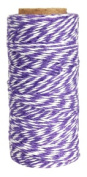 Just Artefacts ECO Bakers Twine 240yd 4Ply Striped Lavander - Decorative Bakers Twine for DIY Crafts and Gift Wrapping