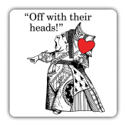 British Library Alice in Wonderland Wooden Coaster with Queen of Hearts Design