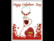 Valentine Personalised Wine Glass Charm on Gift Card ~ Letter B ~ Silver Plated Initial Charm ~ Includes FREE Heart Milk Chocolate ~ Table Decoration ~