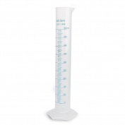 500ml Transparent Plastic Graduated Cylinder for Laboratory Tests