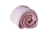 Abeille Soft Cotton Cellular Blanket Pink