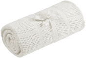 Mothercare Cellular Cotton Blanket/Cot Bed, Cream