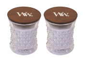 WoodWick Vintage Hobnail Candle Set - Lavender Spa
