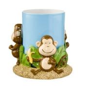 Monkey Bathroom Tumbler with Resin Holder - Saturday Knight