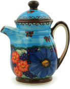 Polish Pottery 440ml Pitcher/Creamer with Lid (Field Of Butterflies Theme) Signature UNIKAT + Certificate of Authenticity