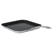 Viking 4013-3N31 Contemporary 3-Ply Stainless Steel Nonstick Grill Pan, 28cm