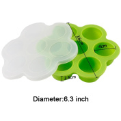 Baby Food Freezer Tray Food Storage Container with Clip-on Lid,Silicone Pressure Cooker Egg Bites Moulds,For Homemade Baby Food, Vegetable & Fruit Purees, Ice Cube, Pudding …