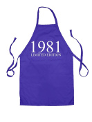 Limited Edition 1981 - Unisex Adult Fit Apron - 5 Colours - 37th Birthday