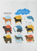 Breeds of Shepherd Dogs -Large Cotton Tea Towel by Half a Donkey