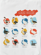 Breeds of Goose Poultry - Large Cotton Tea Towel by Half a Donkey