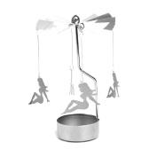 Creative Spinning Carousel Candle Holder Light Metal Candle Decoration Tea Light Holders Gift