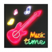Xing Cheng Home Wall Decors Wall Art Colourful LED Pictures With MDF backboard