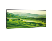 Canvas Picture Panorama No. 419 Green Tuscany Framed Picture 100x40 cm – Picture on canvas, landscape, Tuscany, Italy