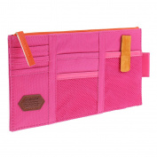 Homyl Red Oxford Fabric Card Ticket Storage Bag Pocket Pouch with Zipper for Car Sun Visor 29 x 24.5cm