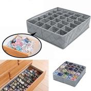 30 Cells Foldable Bra Organiser Storage Box Closet Underwear Drawer Divider Container for Underwear, Bras, Socks, Ties, Scarves