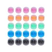 Demiawaking 25pcs Mix Colour Plastic Grid Storage Case Box Bobbin Spool for Sew Machine