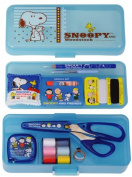 Mass support Snoopy sewing kit / stopper type two-stage tray No.8551 Blue