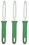 Canary Japanese Cardboard Cutter DANCHAN Double Sided Blade Stainless Steel Blade Green Grip, 3 Vlue Set