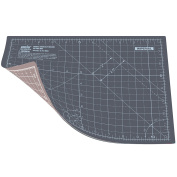 ANSIO A4 Double Sided Self Healing 5 Layers Cutting Mat Imperial/Metric 11 Inch x 8 Inch / 29cm x 21cm - Grey / Brown