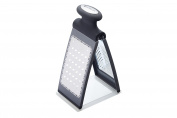 MasterClass Smart Space 3-Way Fold-Flat Stainless Steel Cheese Grater - Black