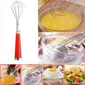 Xshuai® Stainless Steel Kitchen Hand Whisk Mixer, Balloon Wire Whisk, Egg Frother, Milk Beater, Kitchen Utensil for Blending Whisking Beating Stirring Cooking Tool