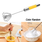 Cooljun Durable Stainless Steel Mixer Balloon Egg Milk Beater Semi-Automatic Whisk Cooking Tool