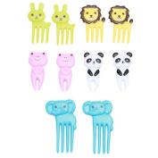NiceButy Animal Food Picks and Forks ,Child Animals Food Picks and Forks creative plastic fruit fork easy decoration