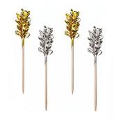 "'30 Party Chopsticks Chopsticks 10.5 cm ""Decorative Gold/Silver"