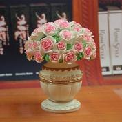BB.er Fruit fork set creative resin vase ornaments fashion European fruit dessert stainless steel fork