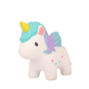 TEEGOMO Kawaii colourful Stars Unicorn Slow Rising Scented Jumbo Squishy Stress Relief Squeeze Decorations Kids Toy and Gift