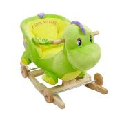 KARMAS PRODUCT Rocking Horse Toy Green Dinosaur Rocker Riding Horse Toy 23.2x 14.5.1cm x 47cm