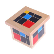 CHONE Wooden Trinomial Cube Set | Montessori Mathematics Material Learning Resources | Toddlers Preschool Educational Toy