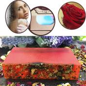 Handmade Soap, Hunpta Essential Oil Wash Bath Rose Handmade Soap Bleaching Whitening Skin Body Care