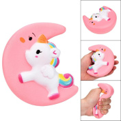 Wokee Small Moon Sleep Pony PU Toys Squishy Cute Scented Cream Slow Rising Squeeze Decompression Toys