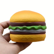 Squishy Hamburger Heart Shape Kid Soft Toy Scented Slow Rising Exquisite Squeeze Toys Stress Relief Toy by LMMVP
