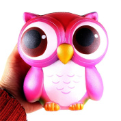 Wokee 15cm Lovely Pink Owl Cream Scented Squishy Slow Rising Squeeze Toys Collection for Kids and Adult Gifts
