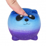Soft Squishy Toy 6cm Mini Cartoon Galaxy Panda Scented Charm Slow Rising Squeeze Toys Stress Reliever for Adult Teens by LMMVP