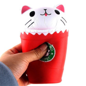 Wokee Cute Cut Coffee Cup Cat Scented Squishy Slow Rising Squeeze Toy Collection Cure Gifts