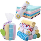 Baby Hand Towels ,8ps Soft Cotton Baby Face Washers Hand Towels Washing Bath Shower Wipe Nursing Towel by D & & R