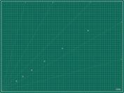 Kadusi Cutting Base in Centimetres 120x90 cm green