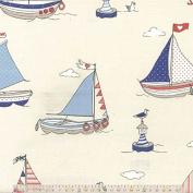 Regatta - Blue - Curtain Fabric - per metre