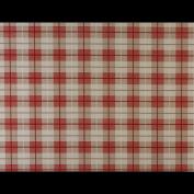 Laminated Cotton - Tartan - Red - per metre