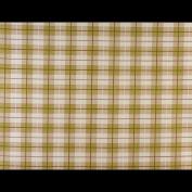 Laminated Cotton - Tartan - Green - per metre