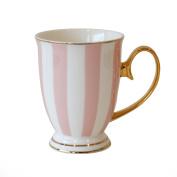 Bombay Duck - Stripy Mug - Pink and White