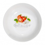 Italia Pasta Bowl Smooth White Porcelain Pasta Bowl For Dinner Table