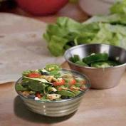 Stainless Steel Bowl With Strip Design Salad Bowl, Mixing Bowl, Serving Bowl, Fruit Bowls, Silver Colour Size 11cm X 11cm