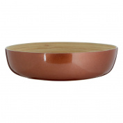 Kyoto Round Salad Bowl Eco-friendly Addition To The Dinner Table Natural Bamboo