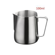Joyfeel buy Stainless Steel Milk Pitcher,100ml Milk Coffe Frothing Jug,Stainless Steel Flower Cup for Milk latte Cappuccino Mocha